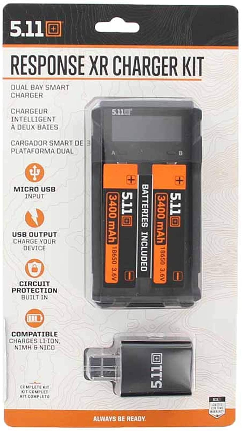 5.11 Response XR Charger Kit Flashlight Rechargeable Power, Style 53403