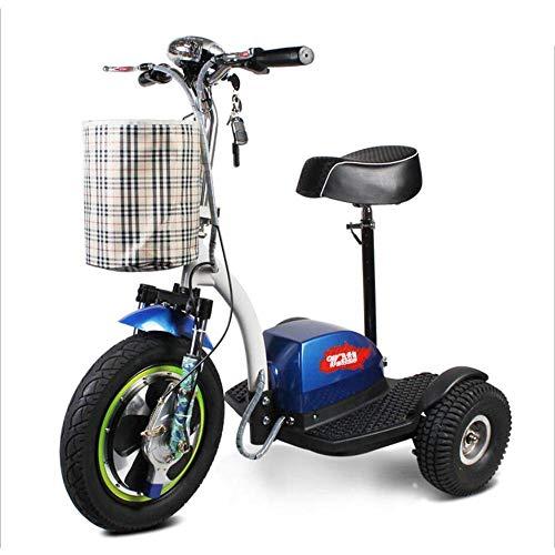FTFTO Inicio Accesorios Ancianos Discapacitados Silla de Ruedas eléctrica Triciclo Ancianos Adultos Al Aire Libre Práctico Scooter de Viaje Control Remoto Inteligente Seguro y cómodo 48V12A