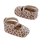 Carter's Baby-Girl's Carter'r Soft Sole Flats, Crib Shoe, Leopard Prink/Brown/Black/Tan, Size 2, 3-6 Months