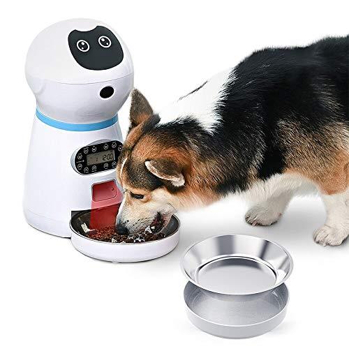 LQQZZZ Alimentador Automático para Perros Y Gatos, Alimentador Inteligente para Perros Y Gatos, Sensor Infrarrojo De Grabación De 10 S para Evitar El Desbordamiento De Alimentos