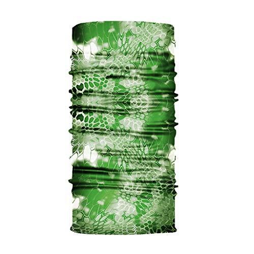 GEORGES Multifunktionstuch Halstuch in vielen verschiedenen Designs vielseitig einsetzbar | Sturmhaube | Schlauchschal | Stirnband | Piratentuch (Green Pattern)