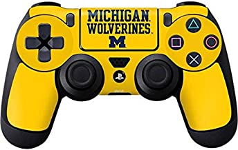 Skinit Decal Gaming Skin for PS4 Controller - Officially Licensed College Michigan Wolverines Design