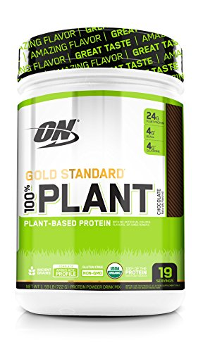 Optimum Nutrition Gold Standard 100% Plant Based Protein Powder, Vitamin C for Immune Support, Chocolate, 1.59 Pound