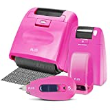 Identity Theft Prevention Combo Security Stamp kit with 1 Wide, 1 Regular and 1 Mini Rollers with 1 CAMO Tape Pink for Masking Out Private Information (60731)