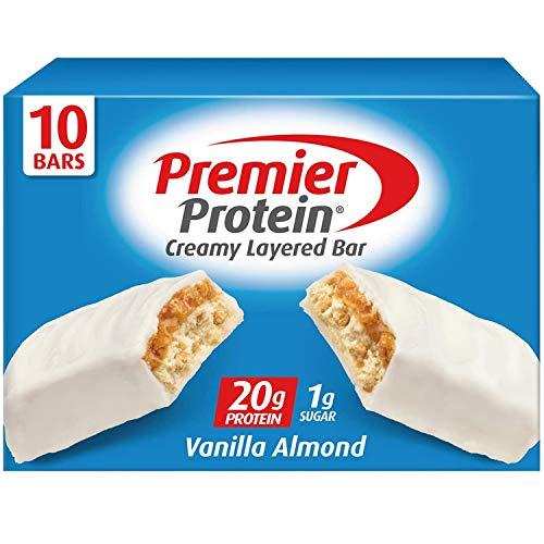 Premier Protein 20g Protein bar, Vanilla Almond, 10 Count
