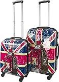 normani 2 Teiliges ABS Hartschalen Kofferset mit Motiv Farbe British Flag