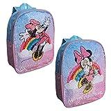 Zaino Asilo Minnie Mouse Disney Paillettes REVERSIBILI Borsa Scuola GIRABRILLA CM.31 - MIN0628