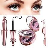 Ciglia Magnetiche, Con Eyeliner Magnetico Impermeabile Senza Gel e Ciglia Magnetiche 3d Riutilizzabili