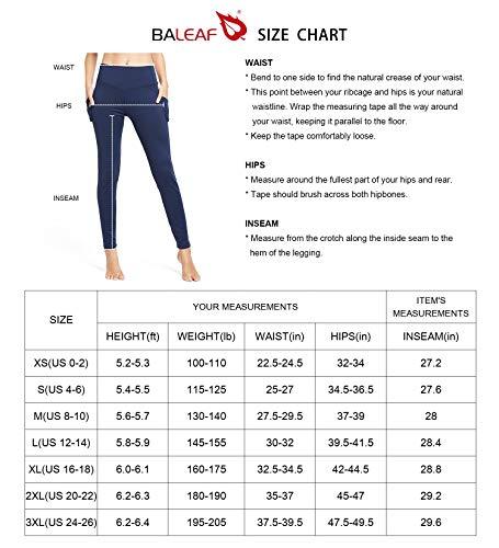 Product Image 5: BALEAF Women's Fleece Lined Leggings Winter Yoga Leggings Thermal High Waisted Pocketed Pants Black M