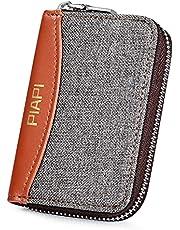 PIAPI カードケース メンズ レディース カード入れ 名刺入れ 小銭入れ クレジットカード 小型 薄型 ジャバラケース コインケース 定期カードケース 大容量 スキミング防止 おしゃれ 耐久性よい 「ダークグレー」