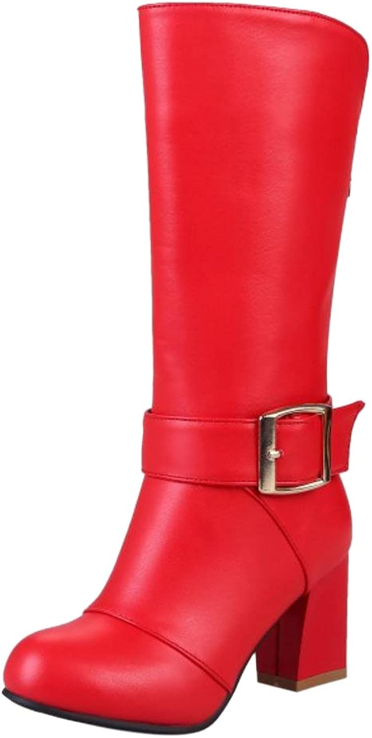 FizaiZifai Women Fashion Heels Boots Back Zipper
