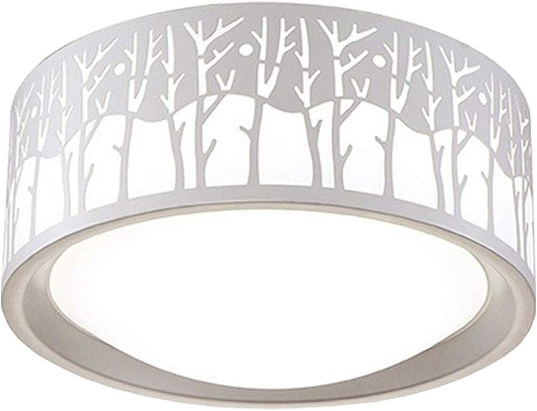 Wandun Deckenleuchte, LED-Deckenleuchte Schmiedeeisen Filialen LED Schlafzimmer Lampe romantische Schlafzimmer Lampen (Farbe   Weies Licht)
