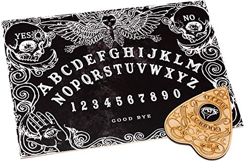 WICCSTAR Black Ouija Board Game for Spirit Hunt with Planchette and Detailed Instruction. Small Size