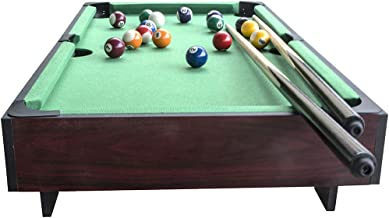 vocheer Pool Table, 36/55 Inch Steady Billiard Table Indoor Leisure Pool Table Space Saving Billiard Table for Kids and Adults with Cues, Ball, Chalk, Rack, Brush Included