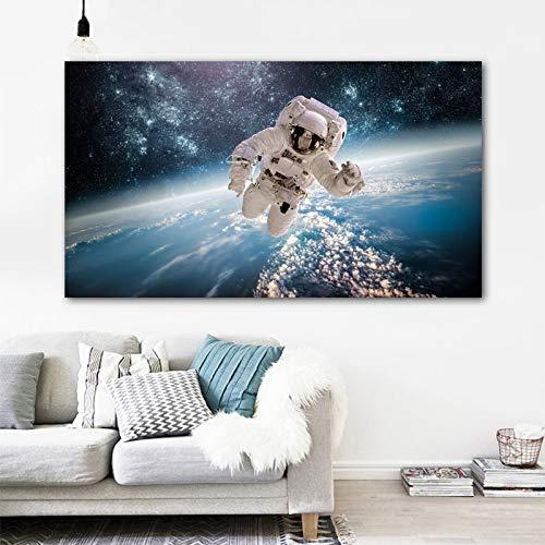 und Kinder Astronaut Spaceman Ative SCanvas Wanddekoration Künstler Haus 16 x 20 Zoll DIY Malen nach Zahlen