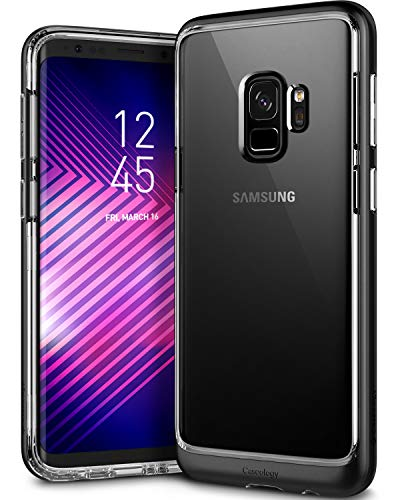 Caseology Skyfall for Galaxy S9 Case (2018) - Clear Back & Slim Fit - Black