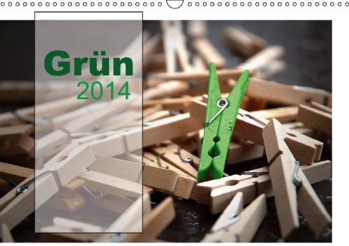 Grün / Geburtstagskalender / Terminplaner (Wandkalender 2014 DIN A3 quer): Die Farbe Grün spielt hier die Hauptrolle (Monatskalender, 14 Seiten)