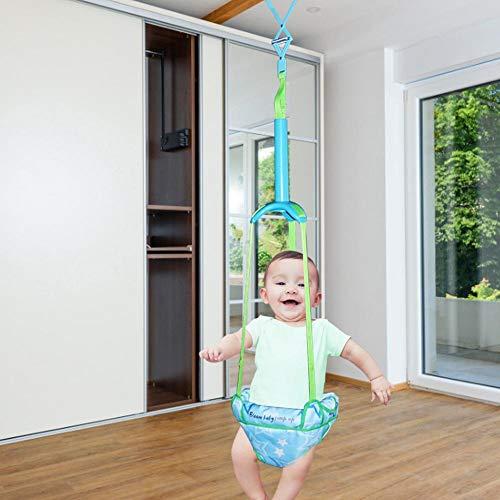 achievr Türpullover Schaukel Stoßstange Jumper Übungsset mit Türklemme Verstellbarer Riemen Für Kleinkinder 6-24 Monate