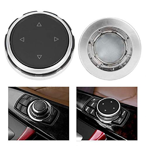 SBCX ABS Car Schwarz Multi Media Knopfabdeckung Trim Button Fit, für Bavarian Motor Works F10 F20 F30 Autozubehör