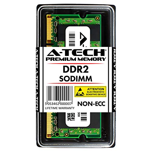 A-Tech 8GB KIT (2 x 4GB) for Dell Studio Notebook Series 1537 1555 (DDR2) 1737 (8GB Max). SO-DIMM DDR2 Non-ECC PC2-6400 800MHz RAM Memory