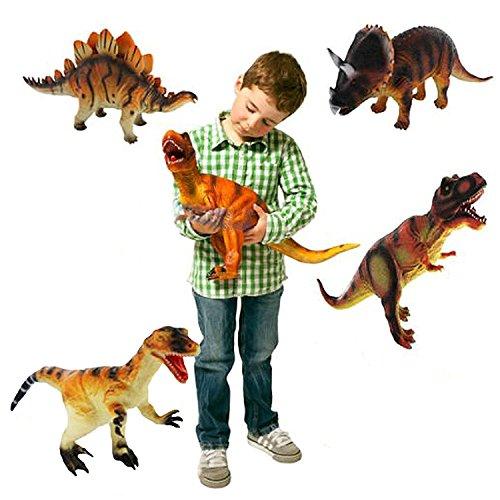 Grandes Dinosaurios Plásticas Animales para niños Figura de juguete aleatoria (1 pieza) [Toy]