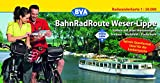 BahnRadRoute Weser-Lippe, Spiralo Querformat, Radwanderkarte 1:50.000 - vertreten durch OWL Marketing GmbH Bielefeld Arbeitsgemeinschaft BahnRadRoute Weser-Lippe