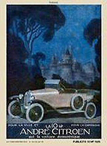 Plaques Metal Autos PLAQUE METAL 40x30cm PUB RETRO CITROEN 10 HP DE 1920 ANDRE CITROEN