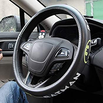 Microfiber Leather Car Steering Wheel Cover Car Steering Wheel Spider-Man Iron Man Superman Batman Cartoon  Color   G
