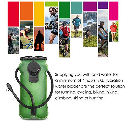 SKL 3 Liter Trinkblase Große Öffnung Wasserblase FDA Geprüfter BPA-frei Trinksystem ideal für Outdoor-Radfahren, Wandern, Laufen, Camping, Walking - 6