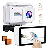 WiMiUS Action Camera 4K 16MP WiFi Underwater 30M 170°Wide-Angle Lens with Remote Control IP68 Waterproof Case