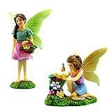 PRETMANNS Fairy Garden–Kit d'accessoires avec 2Miniature Fées