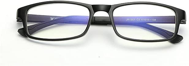 Cyxus Blue Light Fliter Glasses Frame for Men and Women, Anti Eyestrain Lens TR90 Computer Eyeglasses(Matte Black)