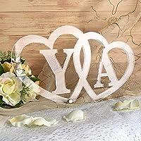 イニシャルハート アクリル製 ウエディングアイテム 結婚式 ウエルカムオブジェ