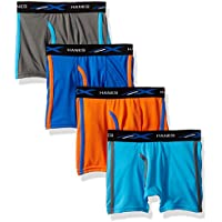 4-Pack Hanes Boys X-Temp Breathable Mesh Boxer Brief