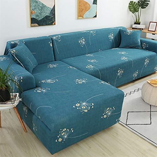 WBFN Ademend Sofa Cover, Hoes, Bank van de Hoek Covers for Living Room Slipcovers Elastisch Stretch sofa Cubre Bank, L Shape behoefte om te kopen 2 stuks