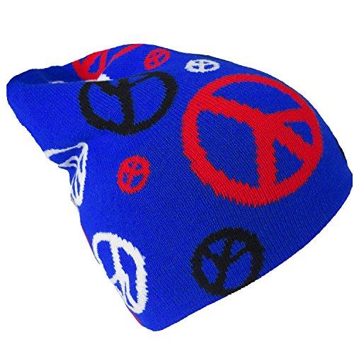 Brubaker Peace Bonnet Beanie Bonnet de ski mixte - Bleu - Taille Unique