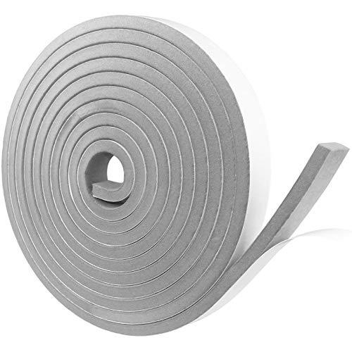 Dichtungsband Selbstklebend, Schaumstoff Dichtungsband Grau, 20mm(B) x10mm(D), Moosgummi selbstklebend für Tür Fenster, türdichtung, wetterfest, Anti-Kollision, Schalldämmung, Gesamtlänge5m
