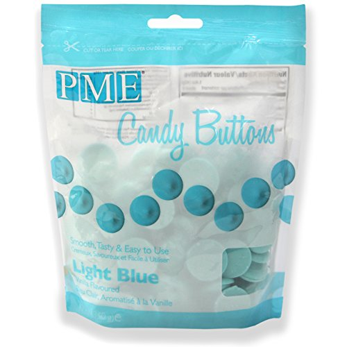 PME Candy-Buttons Hellblau, 340 g