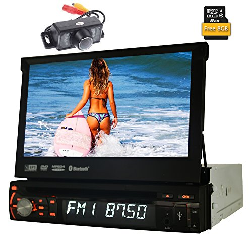 Telecamera posteriore inclusa! Schermo Eincar 7 pollici touch singolo 1 DIN Wince autoradio del precipitare Headunit Autoradio di lettore DVD dell'automobile di sostegno di navigazione GPS SWC US