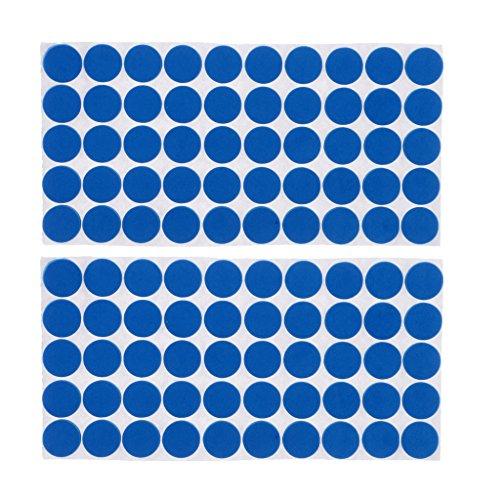 Baoblaze 100 Piezas Multifunción Azul Autoadhesivo Muebles Pata Silla Sofá Pies Piso Alfombrilla Antideslizante Almohadillas Protectoras de Goma Antidesli