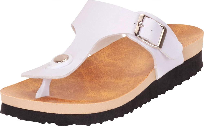 Cambridge Select Women's Thong Toe Buckle Slip-On Slide Sandal