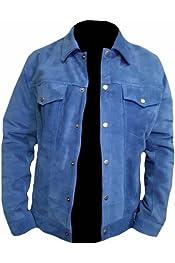 Classyak Mens Fashion Cafe Racer UK Flag Real Leather Jacket