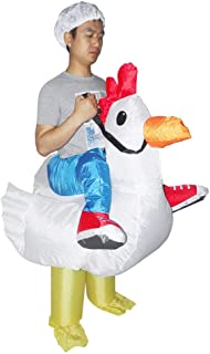 SALVATORE ANGELOTTI Chicken Fancy Dress Inflatable Suit - Fan Operated Costume * One-Size-Fits-All with Compact Fan Unit a...