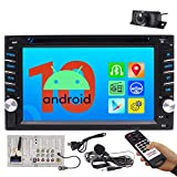 Car Radio Android 10.0 Car Audio DVD/CD Player 2 Din Head Unit in Dash Double Din Car Stereo 6.2 Inch Multi Touch Screen Bluetooth Support 1080P Video WiFi AM FM Radio Free Backup Camera External MIC