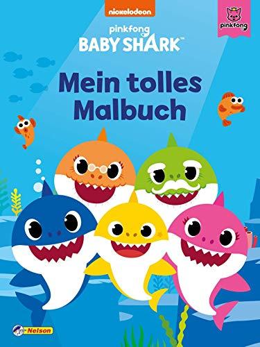 Baby Shark: Baby Shark: Mein tolles Malbuch: 80 Seiten Ausmalspaß!