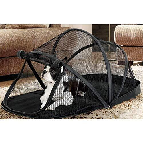 Sebasty Tienda de campaña para mascotas con mosquitera, valla para perros, gatos, casita para perros, tamaño pequeño, mediano y grande, plegable, para invierno, 79 x 38 x 33 cm (tamaño M: M)