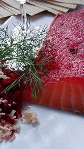 Lachs gebeizt (Graved) mit Rote Beete, Meerrettich und Aquavit 1.1 kg