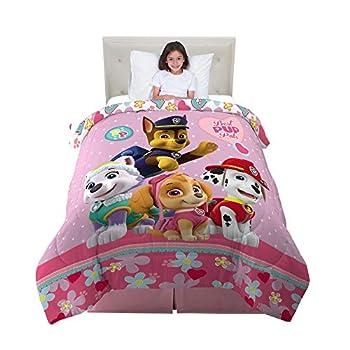 Franco Kids Bedding Super Soft Reversible Comforter Twin/Full Size 72  x 86  Paw Patrol Girls