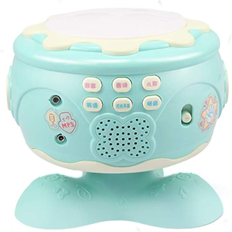 hasta 60% de descuento LIPENG-TOY Bebé Mano Mano Mano Tambores Música para Niños Batería ReCochegable Juguetes para bebés 0-1 3-6-7-12 Meses Puzzle (Color   Azul)  en promociones de estadios