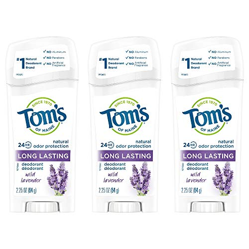 Tom's of Maine Long-Lasting Aluminum-Free Natural Deodorant for Women, Wild Lavender, 6.75 Ounce